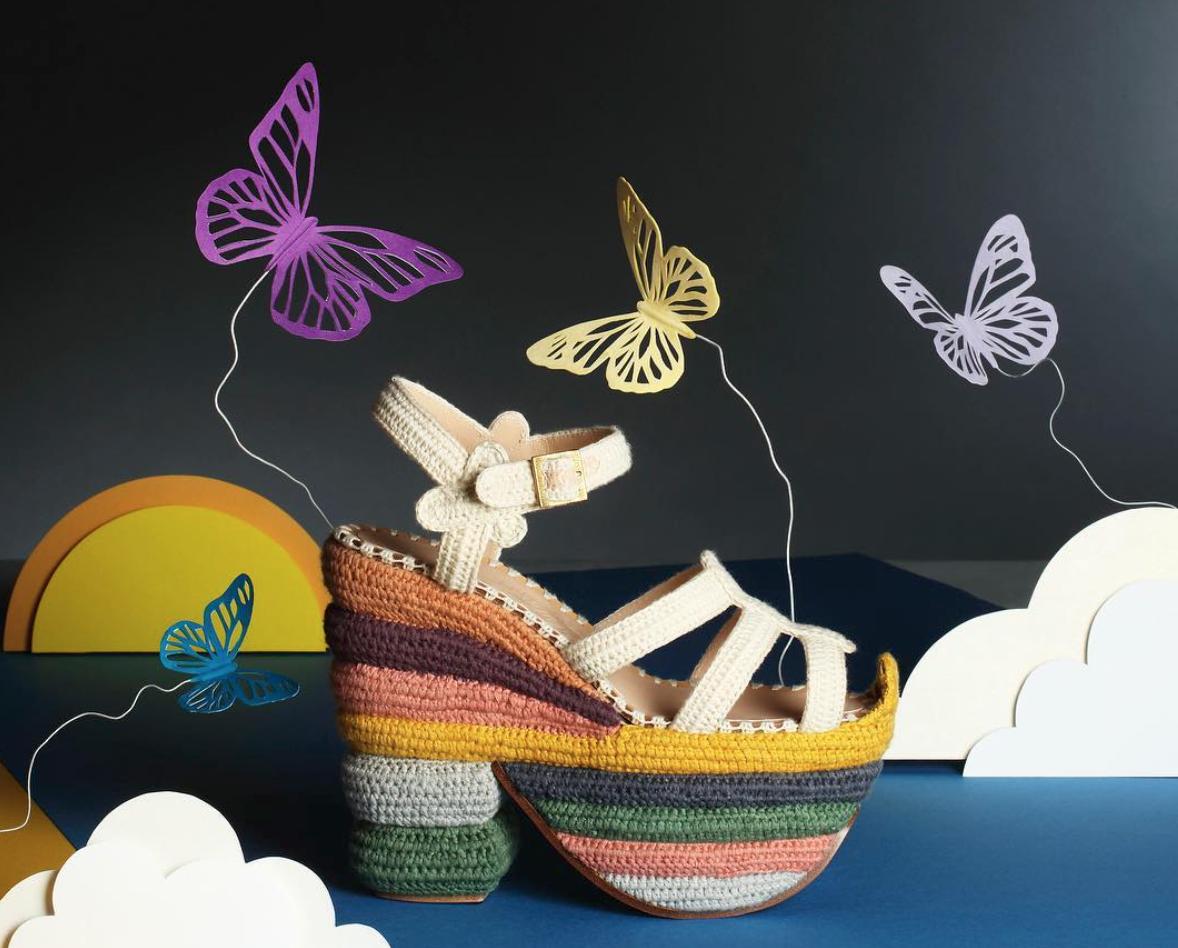 Ferragamo Rainbow future sustainable platform shoes