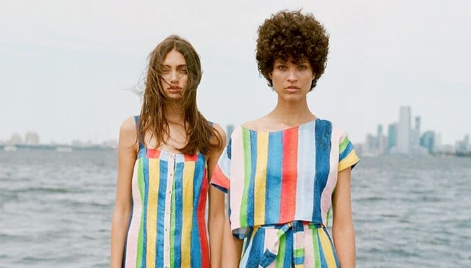 Mara Hoffman brand colored outfits